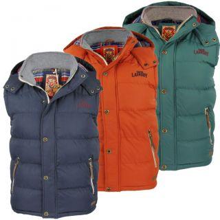 Mens Tokyo Laundry Kyber gilet Body Warmer Hoodie Jacket Coat