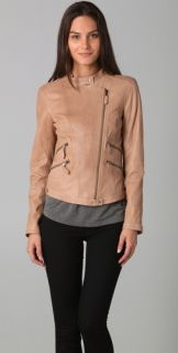 HHH by Haute Hippie Asymmetrical Leather Jacket