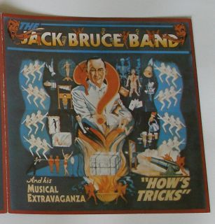 The Jack Bruce Band 1977 Polydor RSO Hows Tricks LP Brochure Cream