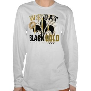 We dat/love/kiss/Black gold hearts/Fl de Lis T Shirt