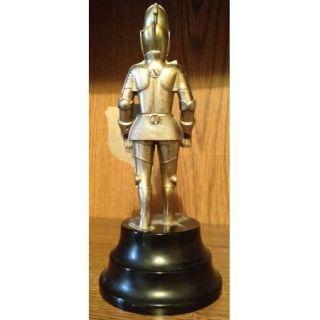 Vintage Knight in Armor Table Lighter Weltzunder Co Paris Shield Cast