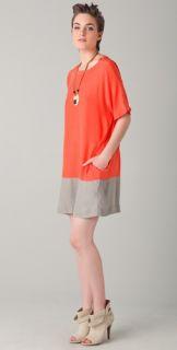 Chalayan Grey Line T Shirt Dress
