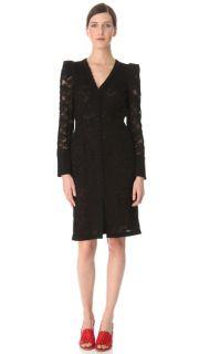 Sonia Rykiel Long Sleeve Lace Dress