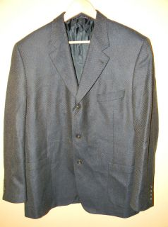 Jack Victor Collection Blazer Sport Coat Size 46R 100% Wool, Made in
