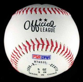 Jack McKeon Hand Signed Baseball Auto PSA DNA COA
