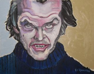 Jack Nicholson The Shining Original Oil Painting 16x20x 75 re