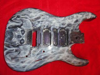 Jackson Guitar Body w Horned Skull Smoke