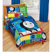 THOMAS Tank Engine TRAINS Toddler Bed n a Bag COMFORTER SHEETS Set Boy
