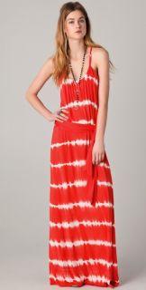 Young Fabulous & Broke Whitely Tropical Stripe Maxi Dress