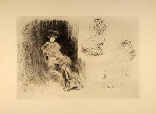 1914 James McNeill Whistler Women Reading Lithograph Original