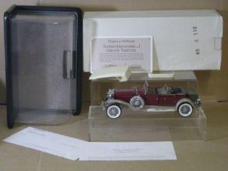 Franklin Mint Gary Cooper 1930 Duesenberg Model J Tourster Mint Boxed