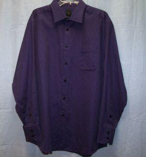 Billy London Purple w Small Stripe LS Dress Shirt Sz XL