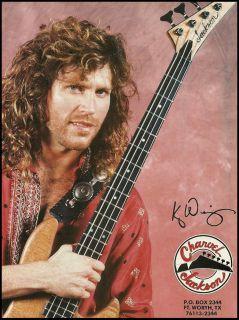 Kip Winger 1991 Jackson Charvel Bass Guitars Ad 8x11 Advertisement