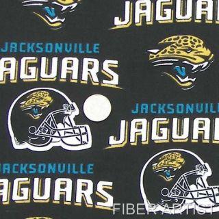 JACKSONVILLE JAGUARS 100% Cotton QUILT Fabric 1/2 YARD FOOTBALL NFL
