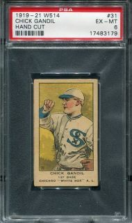 1919 W514 Chick Gandil Black Sox Series Pop 2 None Higher PSA 6