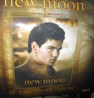 New Moon Twilight Jacob Fleece Blanket Taylor Lautner