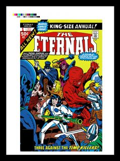 Jack Kirby The Eternals Annual 1 Production Art Cover