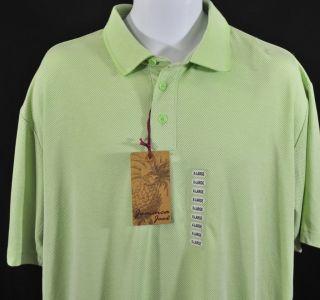 New Jamaica Jaxx Mens Short Sleeve Polo Golf Shirt Lime Green Size XL