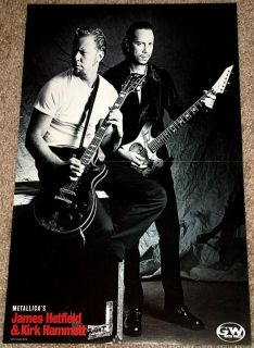 Metallica James Hetfield Kirk Hammett ESP GTR Poster