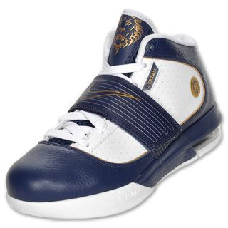 Mens Nike Zoom Soldier IV Lebron James Basketball Shoes Blue Gold New