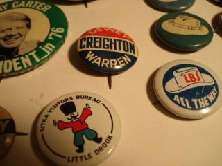 27 Campaign Buttons Pin Backs I Like Ike Roosevelt