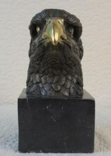 American Bald Eagle Bronze Statue Art Deco Figurine Wild Figure