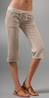 Juicy Couture Terry Crop Snap Pocket Pants