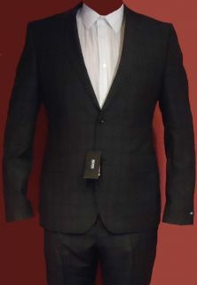 795 Hugo Boss Black Label James Sharp 2 Dark Gray Wool 2 Button Suit