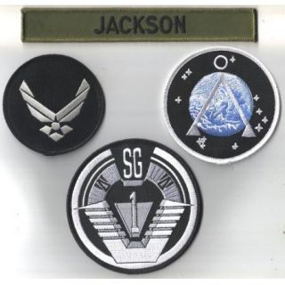 Stargate SG 1 Jackson Uniform Logos Patch Set of 4 New Unused