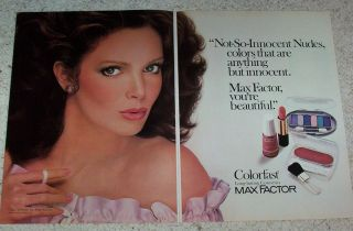 1984 Advertising Jaclyn Smith Max Factor Cosmetics Make Up 2 PG Photo