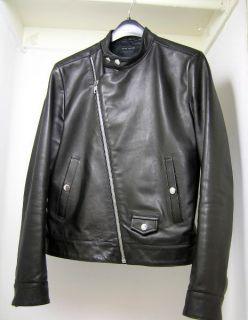 MARC JACOBS LEATHER MOTORCYCLE JACKET BIKER BARNEYS NY black biker