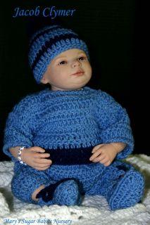 Adorable 19 Reborn Baby Boy Jacob Shawna Clymer Le 199 500