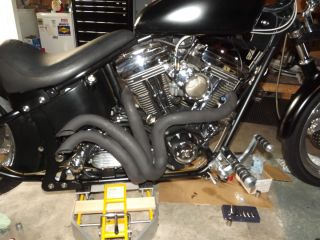 West Coast Choppers Jesse James Fu Pipes Harley EVO Modified