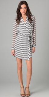 Diane von Furstenberg Striped Helena Wrap Dress