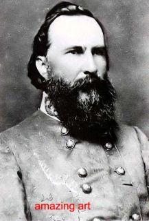 Civil War B w Oil Painting General James Longstreet