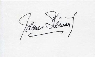 James Stewart Its A Wonderful Life Star Autograph
