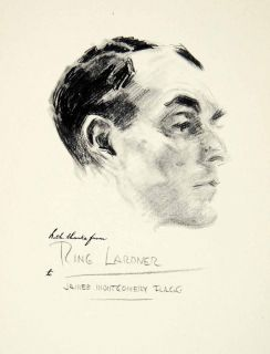 1951 Print Ring Lardner James Montgomery Flagg Portrait Character
