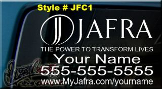 12x8 Jafra Cosmetics Decal Sticker Car Window Sign