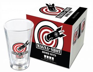 Shot Glass Set Magnetic incl Pint Glass 4 Pack Great w Jager