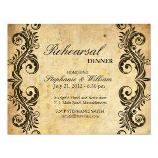 Tarjeta de la cena del ensayo del remolino del vin invitación de