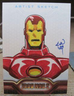 Iron Man Sketch Card by Travis Walton