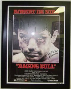 Jake LaMotta Autographed Raging Bull Framed Movie Poster COA