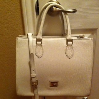 Dooney Bourke Janine White Leather Bag Purse Handbag Satchel Dillen II