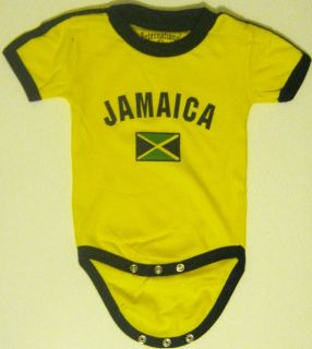 Jamaica Soccer Flag Kids Baby Onesie Infant jeresy Football Futbol