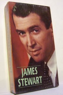 HOLLYWOODS LEADING MEN   JAMES STEWART (VHS, 1991) Biography BRAND