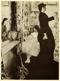 1911 Print James Abbott McNeill Whistler Art Music Room Drapery