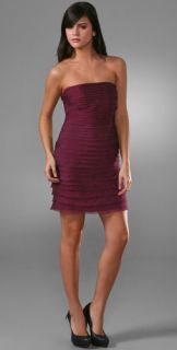 alice + olivia Raw Edge Strapless Dress