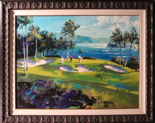 Malcolm Farley Maui Golf FRAMED ART, HAND SIGNED JACK NICKLAUS Ltd ED