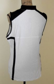 DKNY by Jamie Sadock Sleeveless Pure White Golf Shirt Top x Large