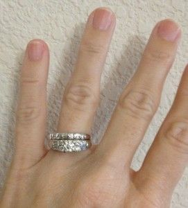 Certified Jared Round Diamond White Gold Engagement Ring Bridal Set